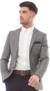 French Connection Mens Herringbone Blazer Grey £59.99 + £4.99 del at MandM Direct