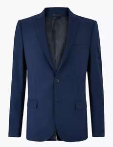 The Ultimate Blue Skinny Fit Jacket £22 / 2 Piece Suit £39 + Free click and collect @ Marks & Spencer