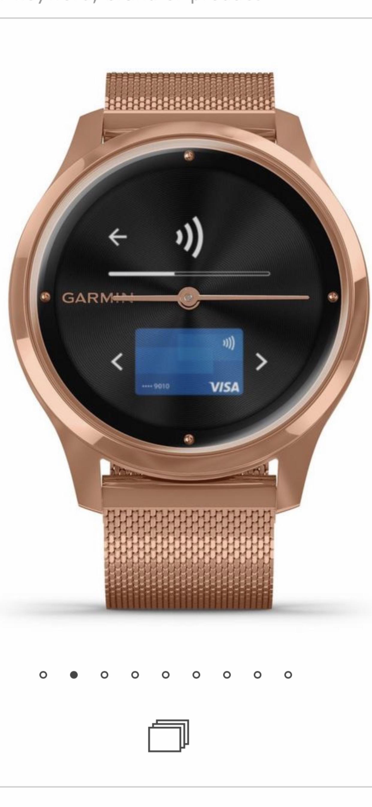 Garmin Vivomove Luxe Rose Gold Plated Smartwatch £344 @ Beaverbrooks