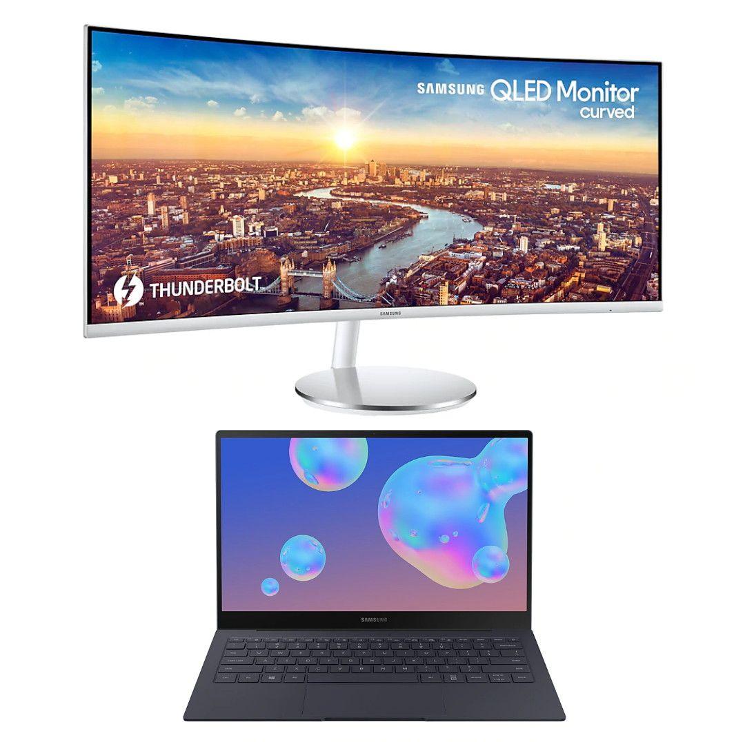 "Galaxy Book S Intel, 13"", Mercury Grey 512GB + 34"" Wide Screen Thunderbolt 3 Curved Monitor - £1012.35 Via Employee Portal @ Samsung"