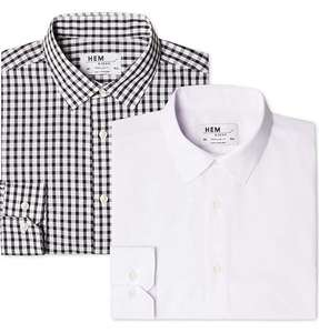 Men's Long Sleeved Formal Shirts (2 Pack, 15.5 inch collar) from £6.20 Prime (+£3.49 non Prime)