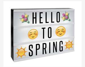A4 Lightbox with 205 Letters & Emoji | Pukkr £5.99 + £2.95 del @ Roov