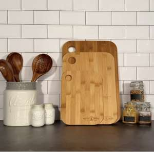 Bamboo Chopping Board - Set of 3 £6.94 Delivered @ Roov
