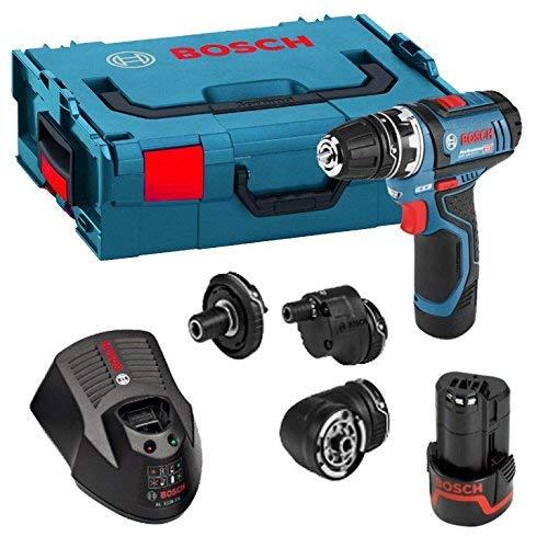 Bosch Professional GSR 12 V-15 FC Cordless Drill Driver Set with 2 x 12 V 2.0 Ah Batteries, L-Boxx £134.10 @ Amazon