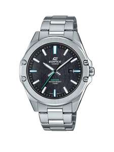 Casio Casio Edifice Black And Green Detail Date Dial Stainless Steel Bracelet Mens Watch - £71.20 + free Click and Collect @ Very