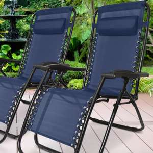 Two Humlin Zero-Gravity Folding Chairs £53.99 with code (various colours) @ Groupon