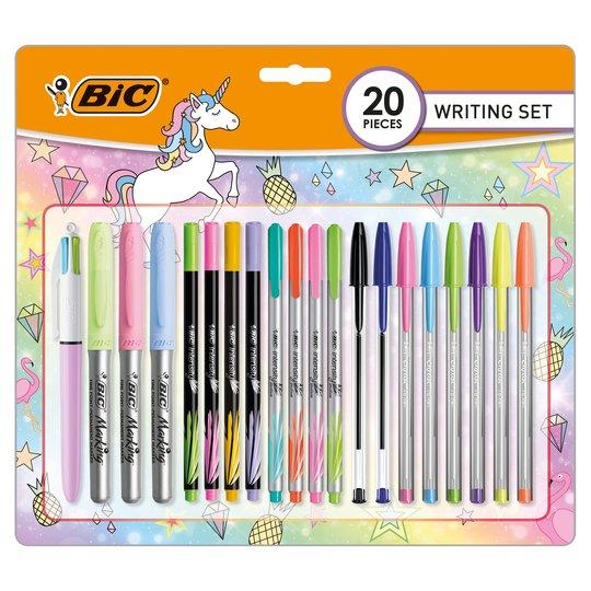 Bic Unicorn Stationery Set 20 Pack - £7 @ Tesco