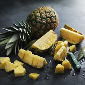 Pineapple / Packs of Doughnut Peaches, Green Beans or Tomatoes 65p @ M&S