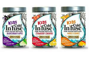 Twinings Cold Infuse for Water Bottles (Kids) - Choice of Mango & Orange, Strawberry & Lemonade or Blackcurrant and Apple £1 @ Morrison's
