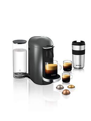 Nespresso, Pod Coffee Machine, Krups, Vertuo Plus, Titanium £89.99 @ Amazon