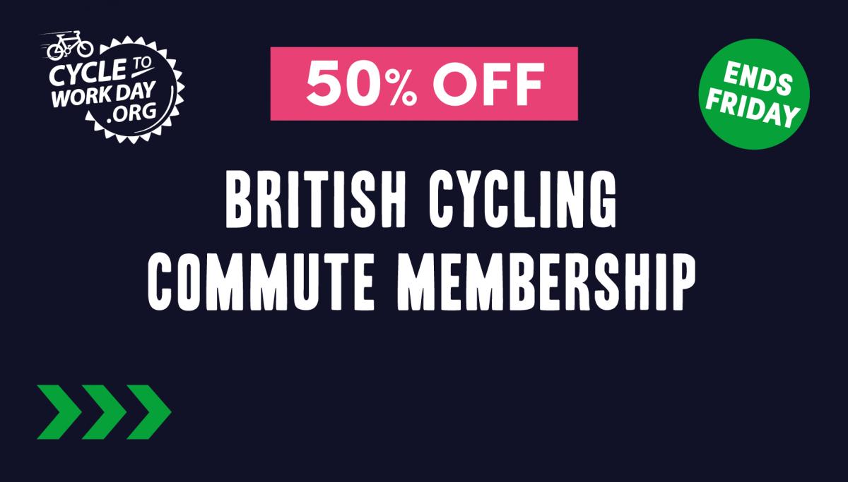 50% off Commute memberships at British Cycling