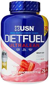USN Diet Fuel, Meal Replacement Protein Shake, Aid in Weightloss, Strawberry, 2.5 kg £29.45 at Amazon