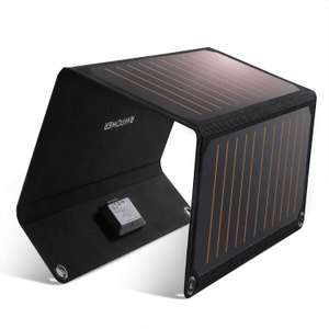 RAVPower Solar Charger 21W Dual USB Output at 2.4A Each - £34.99 Using Code Sold by RAVPower official / Fulfilled By Amazon