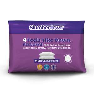 Slumberdown Feels Like Down Pillows Pack of 4 - £17.05 delivered @ Sleepseeker