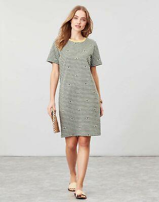 Joules Womens Liberty A Line Jersey Dress - GREEN BEE STRIPE - £11.95 @ Joules / ebay