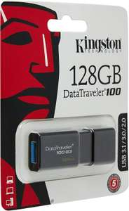 Kingston DT100G3/128GB DataTraveler 100 G3 USB 3.0 Flash Drive, 128 GB, Black £13.21 at Amazon Sold by Base