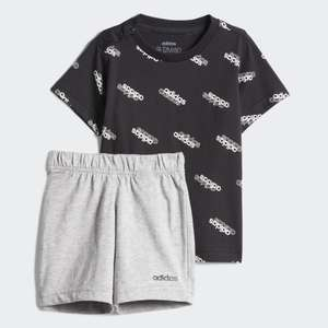 adidas Kids Favorites T-Shirt & Shorts Set (Black or Blue) £7.17 delivered with code @ adidas