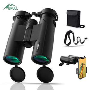 BFULL10x42 HD Compact Binoculars for Adults Teenager with 21mm Large View Eyepiece £20 with voucher @ Sold by Ziran and Fulfilled by Amazon
