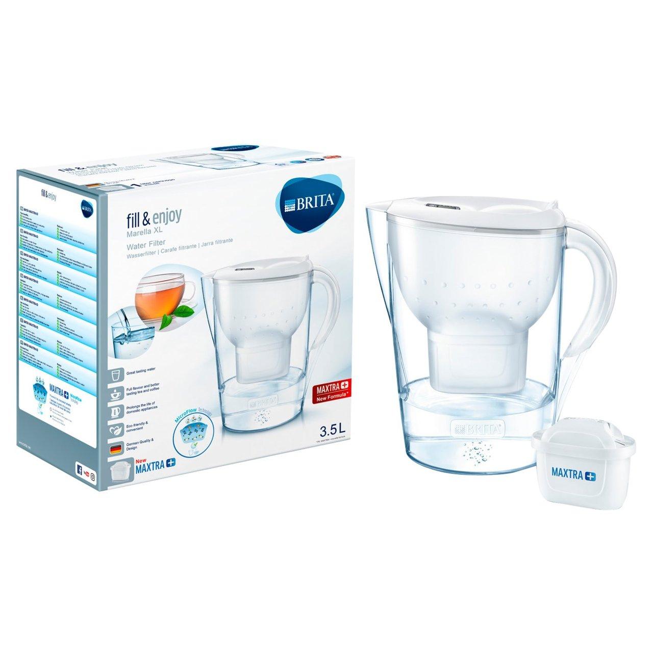 Ocado Brita Maxtra+ Marella XL Water Filter Jug 3.5L with 1 cartridge - £12.65