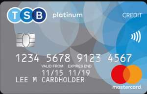 0% balance transfer and purchase credit card for 20 months - 2.95% fee @ TSB