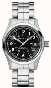 Hamilton Mens Khaki Field Auto Steel Watch £442 with code at First Class Watches