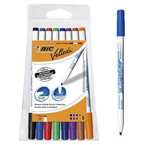 BIC Velleda 1721 Whiteboard Pens - Assorted Colours, Pouch of 8 - £2.50 Prime (+£4.49 Non Prime) @ Amazon