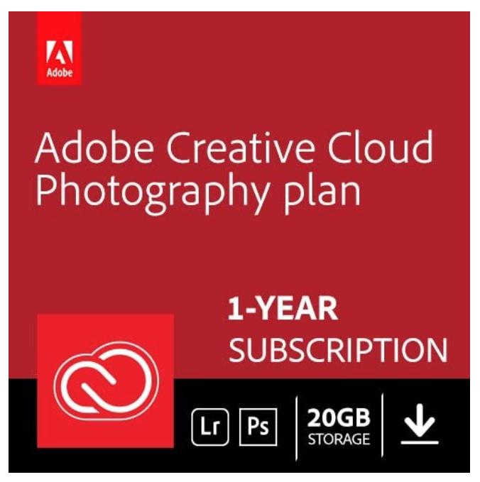 Adobe Creative Cloud (20Gb) 12 month Plan - Photoshop + Lightroom Download £89.99 @ Amazon