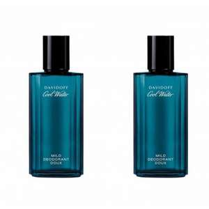 TWO bottles of Davidoff Cool Water Deodorant Spray 75ml £15 delivered with code From Beauty Base