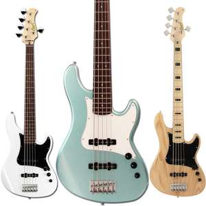 Cort GB55JJ 5 String Bass Guitar In Seafoam Pearl Green £239.20 / Olympic White or Natural £263.20 Delivered Using Code @ Kenny's Music