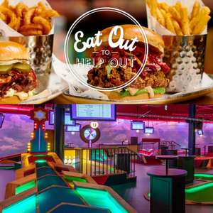 1 Round of Crazy Golf For £1 Per Person + 50% Off Food & Drink - 7th August Only - Bookable Now @ Puttshack White City, London -