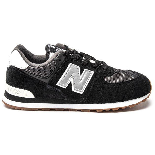 New Balance 574 (kids) black/silver - £29 / £31.99 delivered @ SOLETRADER