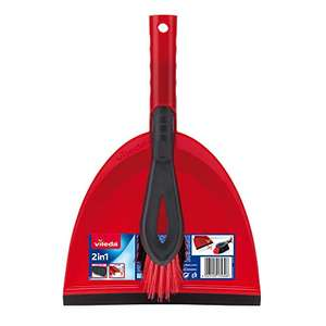 Vileda 2-in-1 Dustpan Set, Red for £2.50 (Prime) / £6.99 (non Prime) delivered @ Amazon