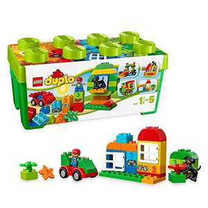 LEGO 10572 DUPLO My First All in One Box of Fun, Large Bricks Preschool Building Set with Storage - £11.50 Prime / +£4.49 non Prime @ Amazon