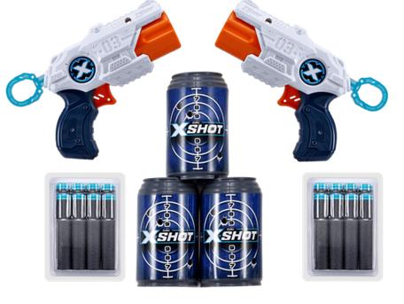X-Shot Double MK 3 Foam Dart Blaster Combo Pack -16 Darts 3 Cans By ZURU - £7.50 @ The Entertainer (Free C&C)