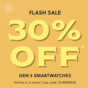 Fossil Gen 5 smart watches. 30% off at Fossil with code