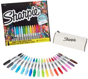 Sharpie Fine Permanent Markers Limited Edition Pack of 18 including Free Pencil Case - £8.99 + Free Click & Collect @ Ryman