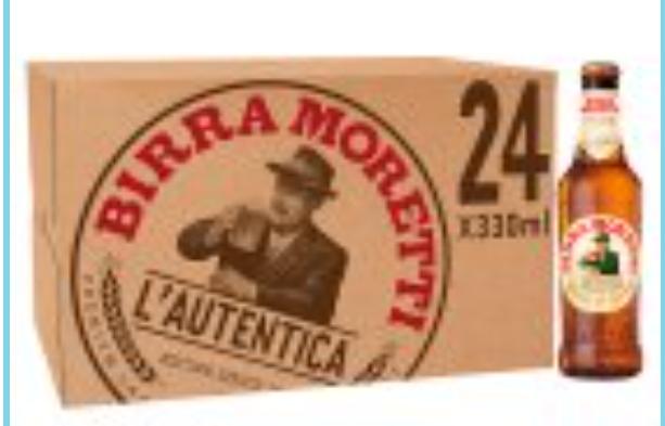 Birra Moretti Lager 24x330ml - £22 instore and online @ Sainsbury's