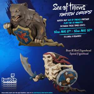 Sea of Thieves Bear & Bird Figurehead/Spinal Figurehead - Free with Twitch Drops
