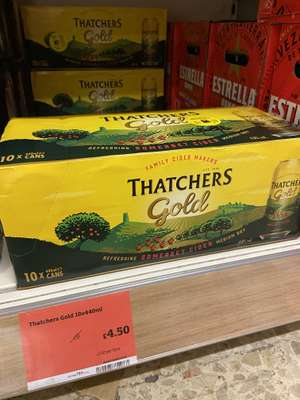 10 Pack of Thatchers Gold Cider £4.50 instore at Sainsbury's Hackney