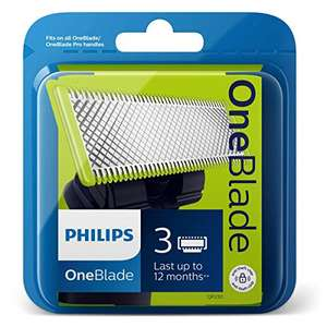 Philips QP230/50 Genuine UK OneBlade Replacement Blade, Pack of 3 (1 Year Supply) - £27.45 (£19.22 on S&S) @ Amazon