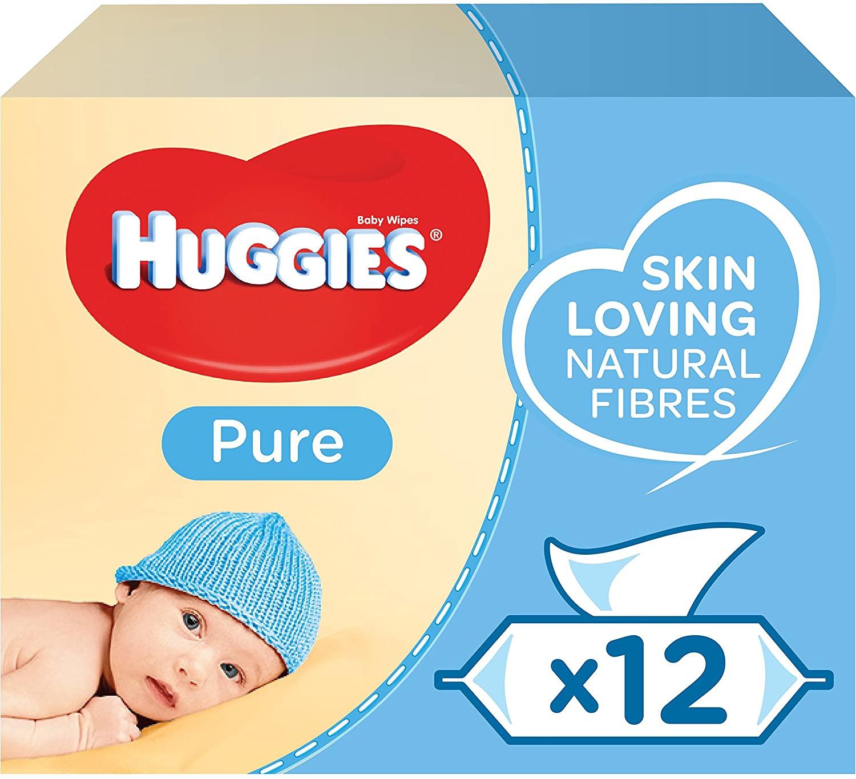 Huggies Pure Baby Wipes12 x 56 per pack - £6 @ Morrisons