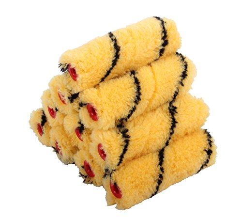 ProDec Tiger Medium Pile Mini Rollers, Red, 4-Inch, Set of 10 Pieces - £3.40 prime (+£4.49 non Prime) @ Amazon