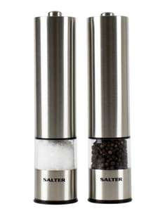 Salter Electric Salt and Pepper Mill Grinder Set - £12 Prime / +£4.49 Non Prime @ Amazon