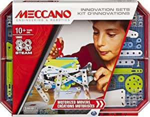 Meccano 6047099 Set 5, Motorised Movers S.T.E.A.M. Building Kit with Animatronics, for Ages 10 and Up - £16.99 (+£4.49 NP) @ Amazon