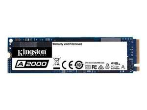 Kingston 250GB A2000 M.2 NVMe PCIe SSD XTS-AES - up to 2,000/1,100MB/s R/W - 5 yrs. Warranty - £34.38 Delivered @ BTShop