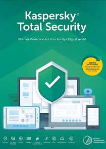 Kaspersky Total Security 2020 - 1 Device 1 Year, Europe Only £7.04 from Eneba