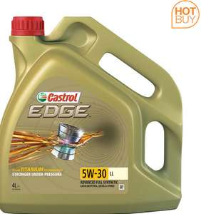 Castrol EDGE 5W-30 Long Life Engine Oil, 4 Litres – 4 Pack (16 Litres) only £79.89 @ Costco