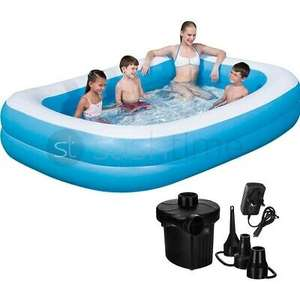 Large Family Swimming Pool Garden Outdoor Summer Inflatable Kid Paddling W/ Pump - £39.95 @ sashtime / ebay