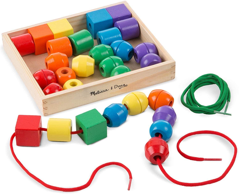 Melissa & Doug Wooden beads from Amazon for £8.99 Prime (+£4.49 non Prime)