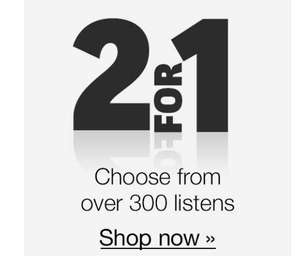 2 for 1 sale on 300 audiobooks - Audible